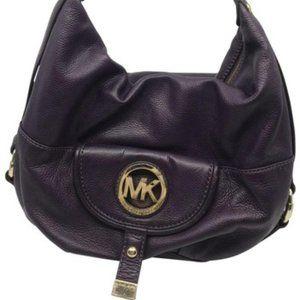 Michael Kors Purple Large Leather Shoulder Bag